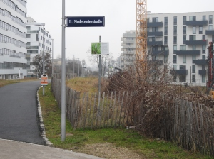 Baustelle Hyblerpark/Modecenterstraße